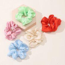 5pcs Pleated Elastic Scrunchie