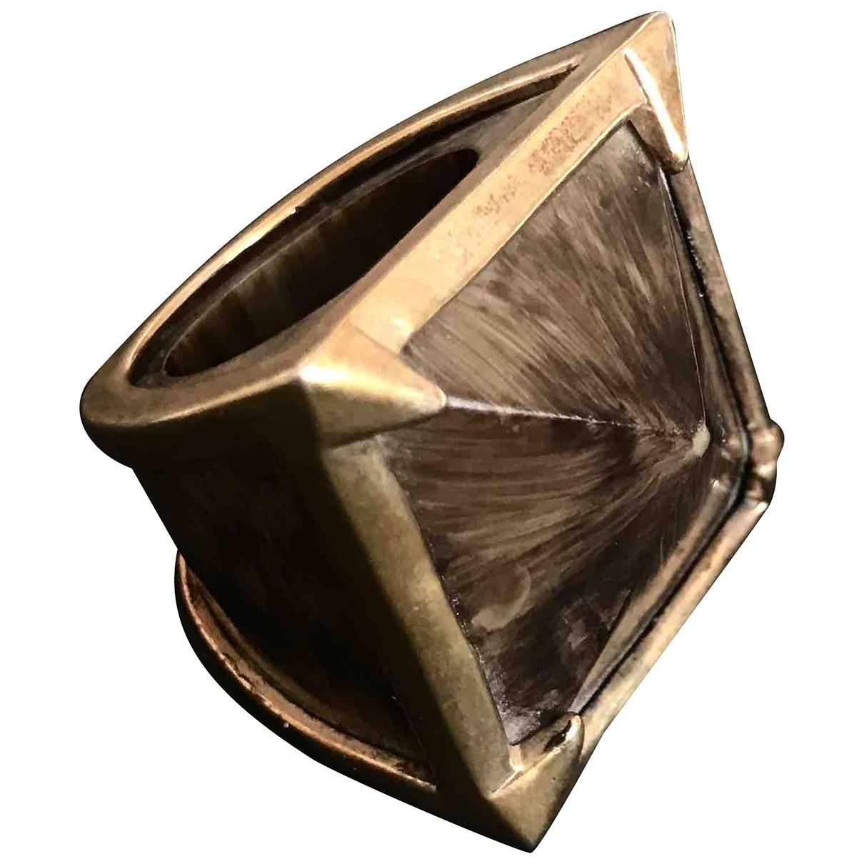 Bcbg Max Azria \N Ring in  Braun Metall