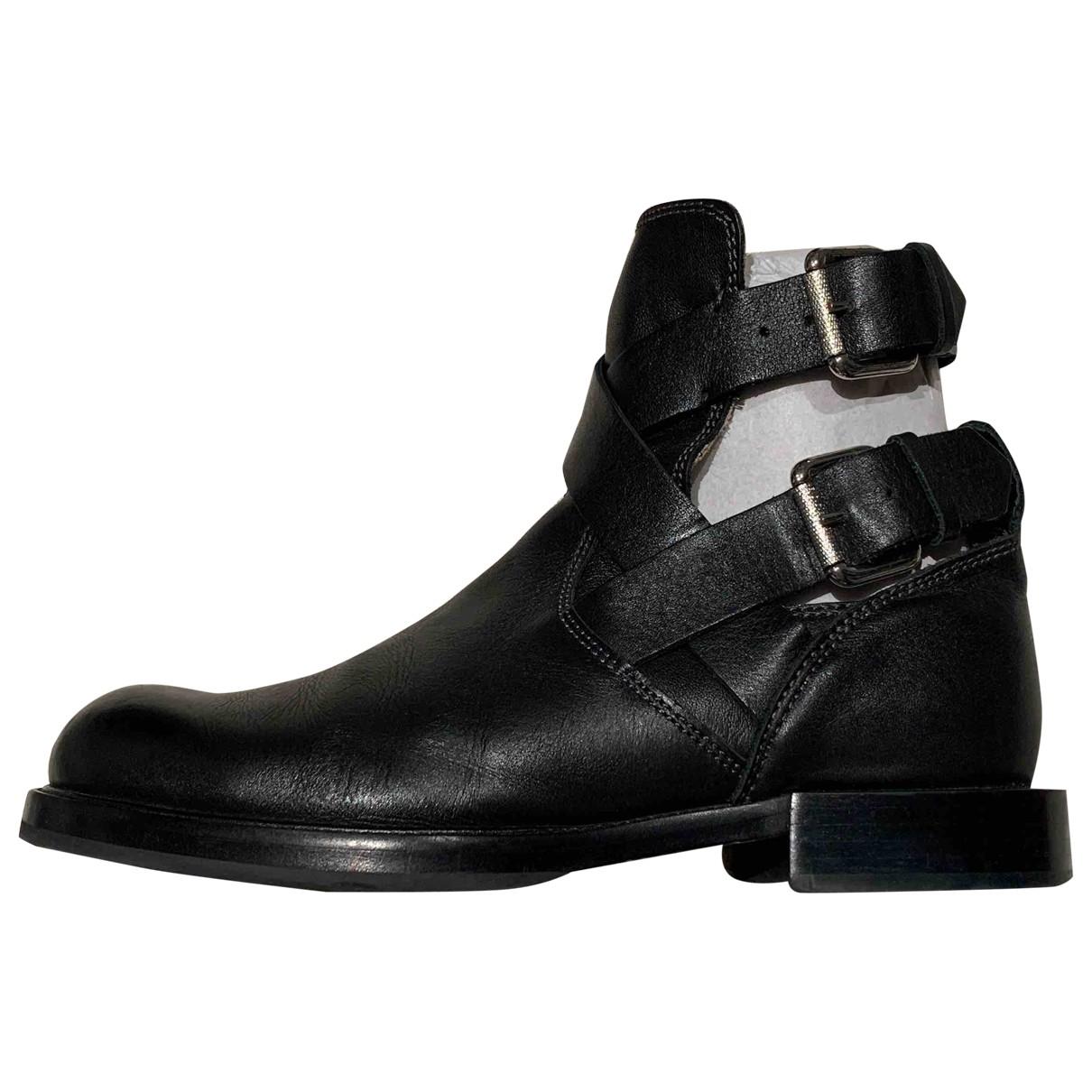 Diesel \N Black Fur Ankle boots for Women 40 EU