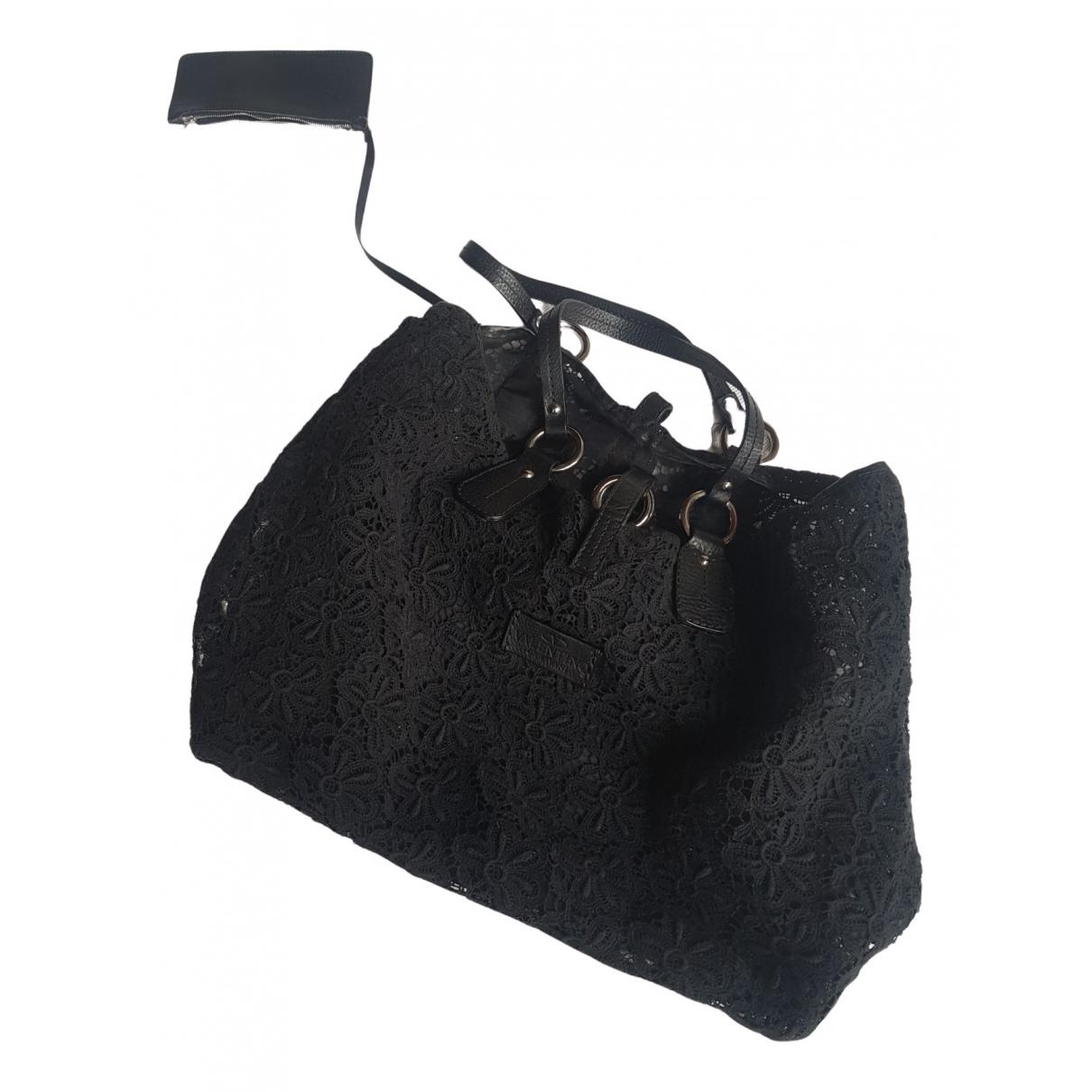 Valentino Garavani - Sac a main   pour femme en laine - noir