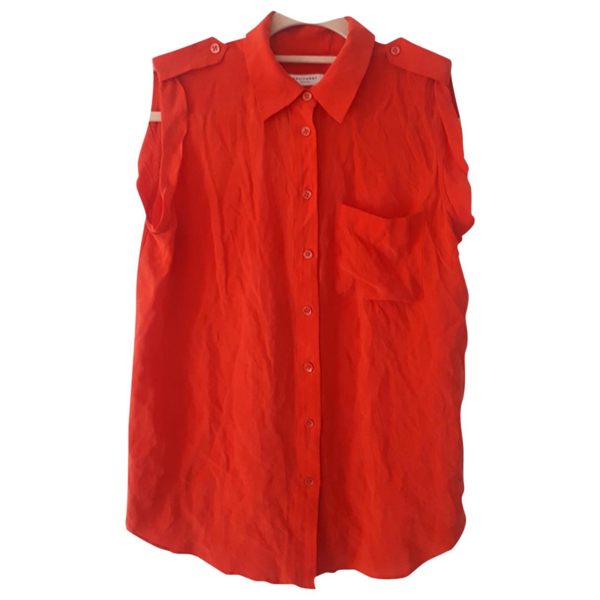 Equipment \N Red Silk  top for Women XS International