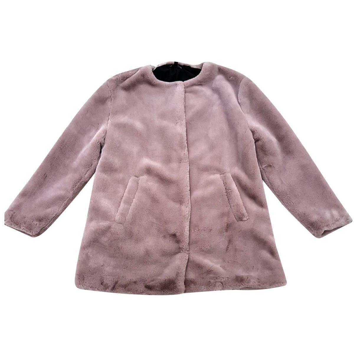 Zara \N Beige Faux fur coat for Women S International