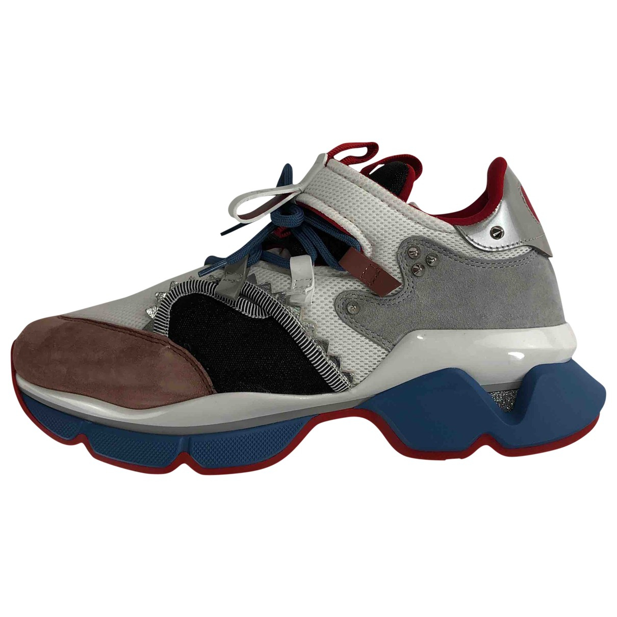 Christian Louboutin Red Runner Multicolour Cloth Trainers for Men 43 EU