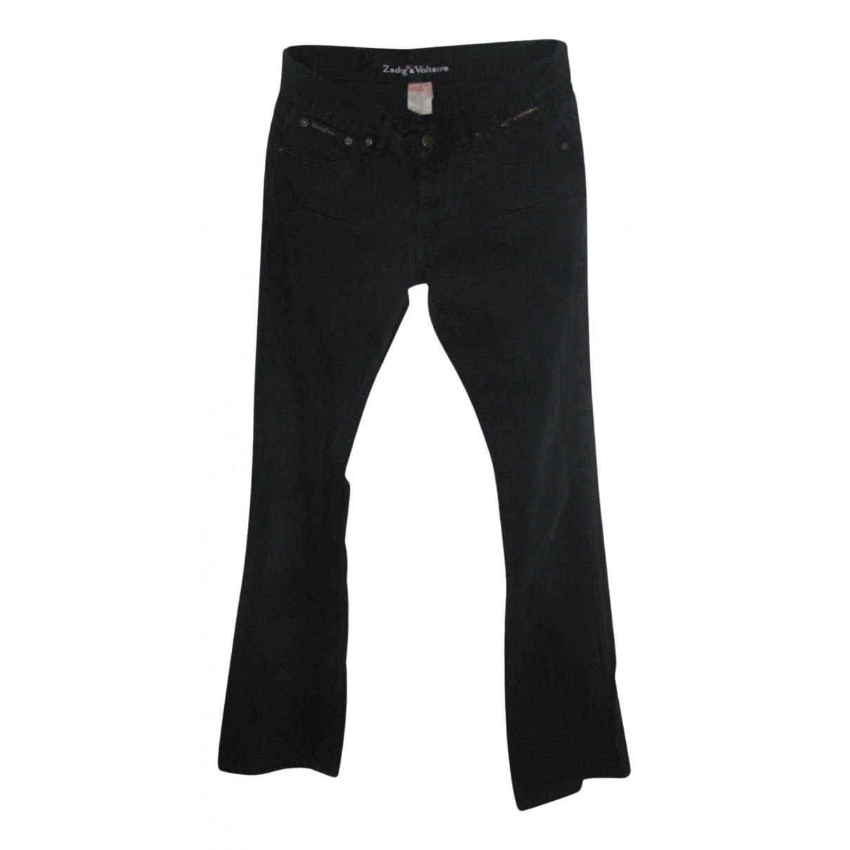 Zadig & Voltaire \N Black Denim - Jeans Jeans for Women 38 FR