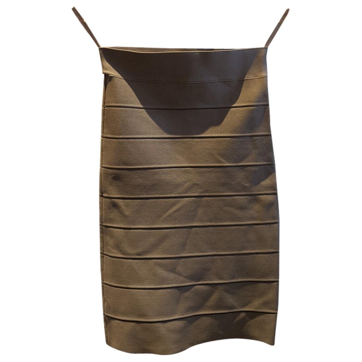 Bcbg Max Azria \N Camel Cotton - elasthane skirt for Women XS International