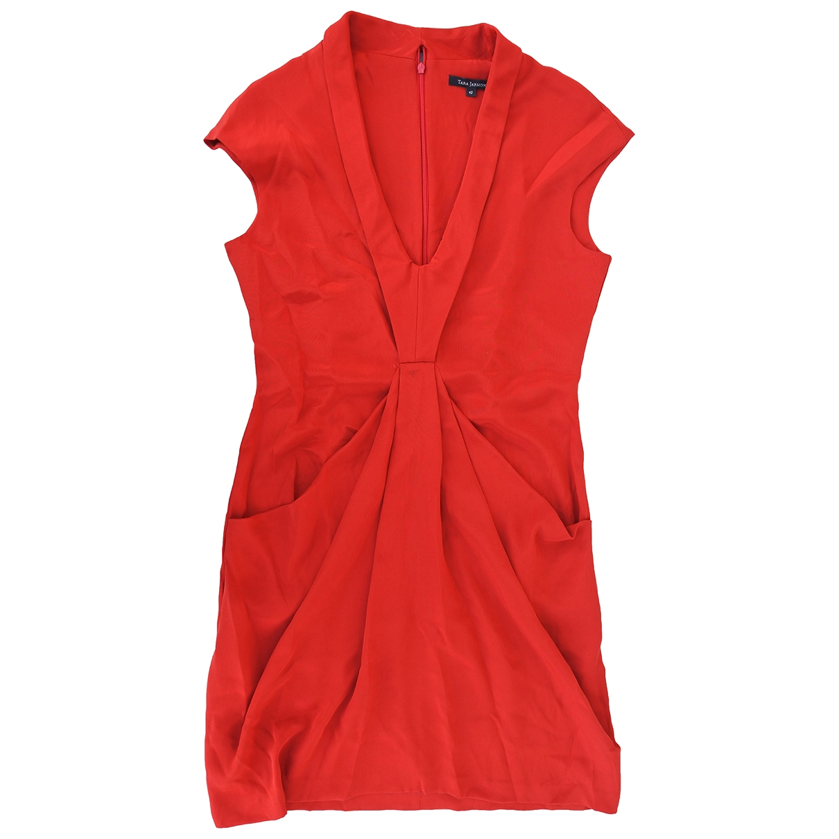 Tara Jarmon - Robe   pour femme en soie - rouge