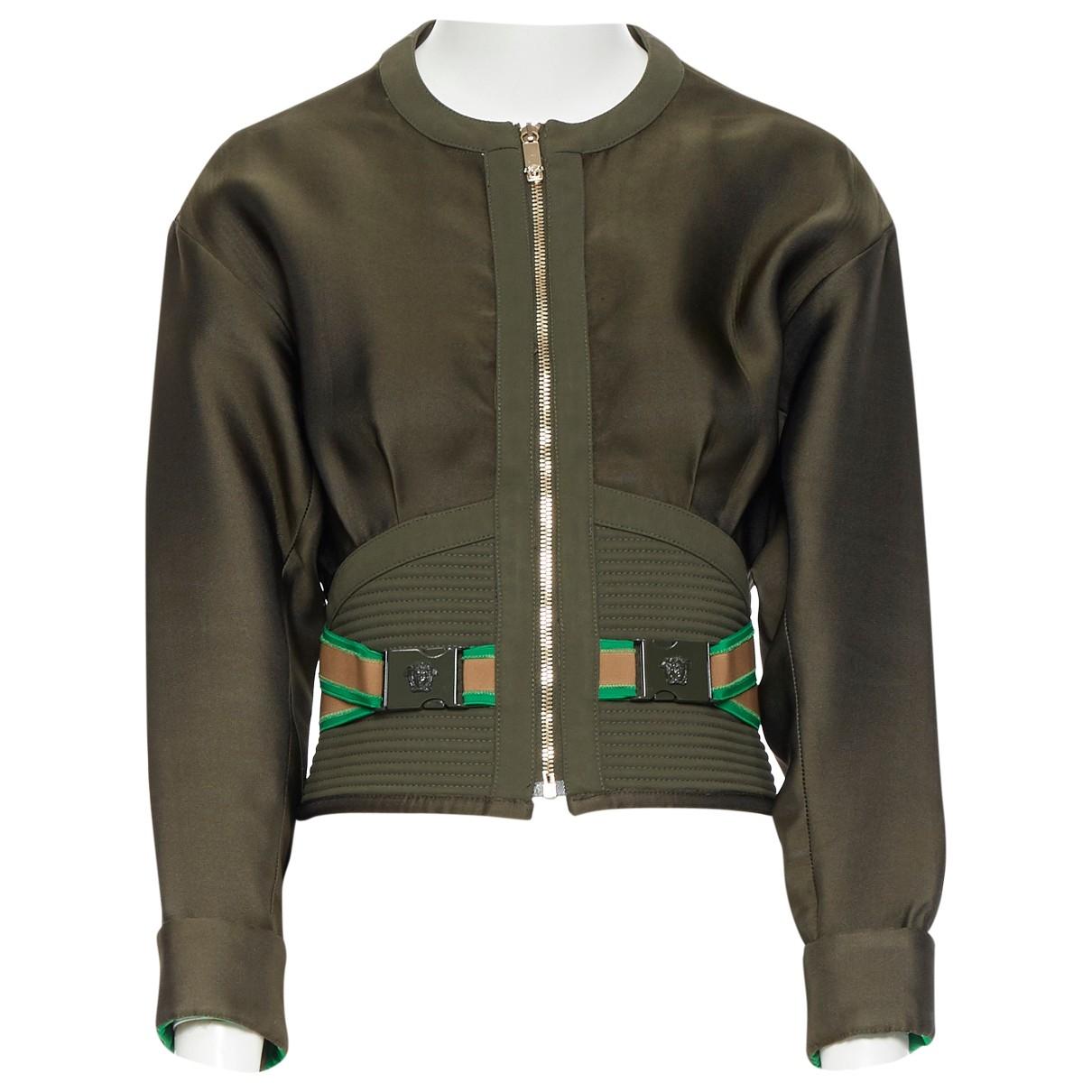 Versace \N Jacke in  Khaki Synthetik