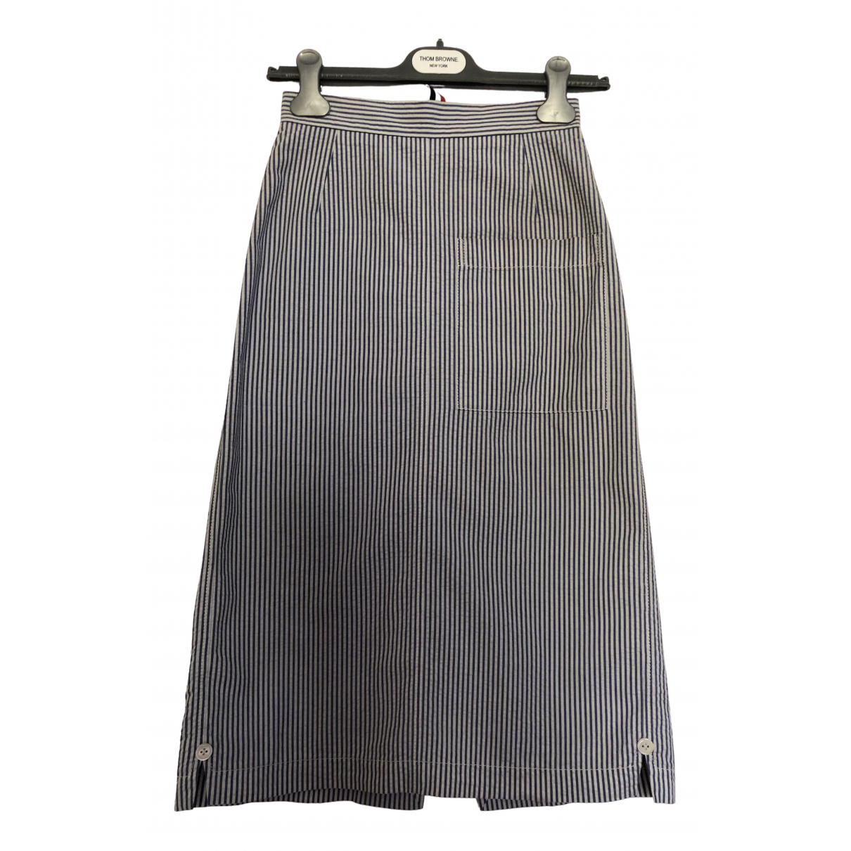 Thom Browne \N Blue Cotton skirt for Women 38 IT