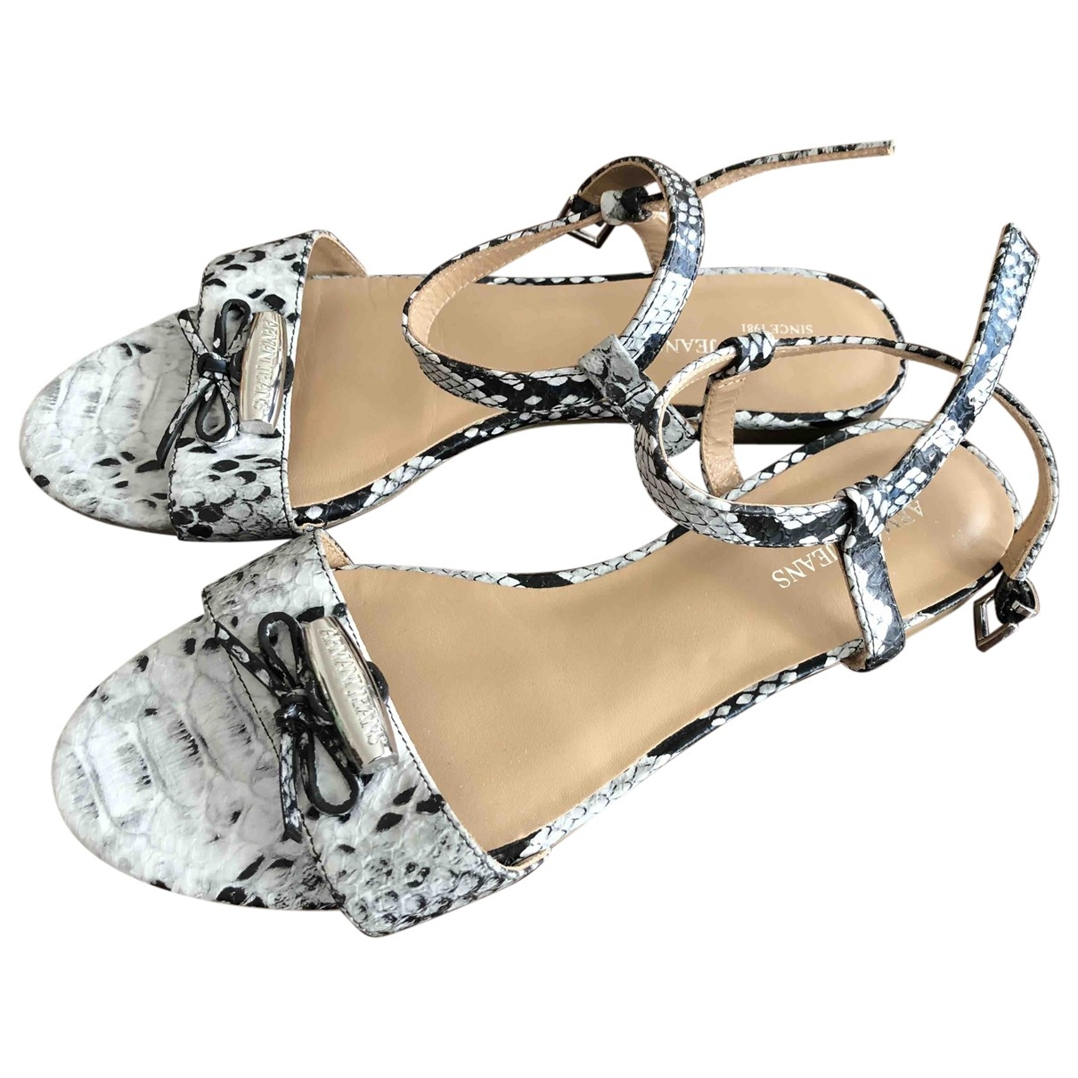 Armani Jeans \N Leather Sandals for Women 37 EU