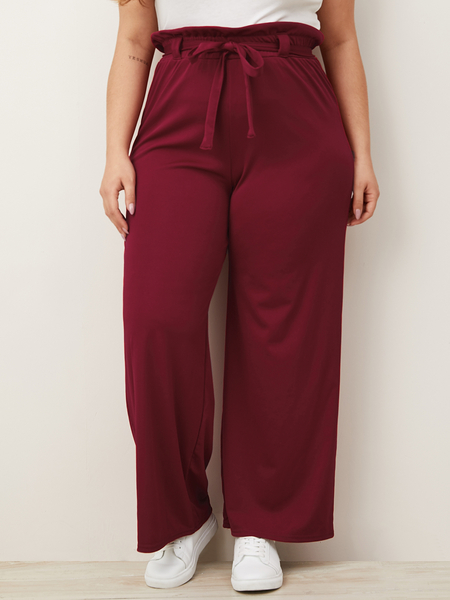Yoins Plus Size Belt Design Pants