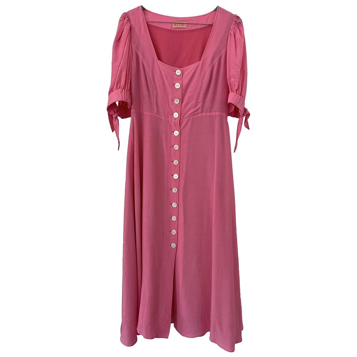 Kitri \N Kleid in  Rosa Viskose