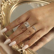 2 piezas anillo con animal