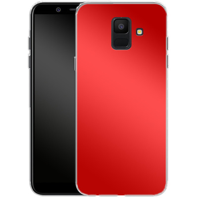 Samsung Galaxy A6 Silikon Handyhuelle - Test Red von caseable Designs