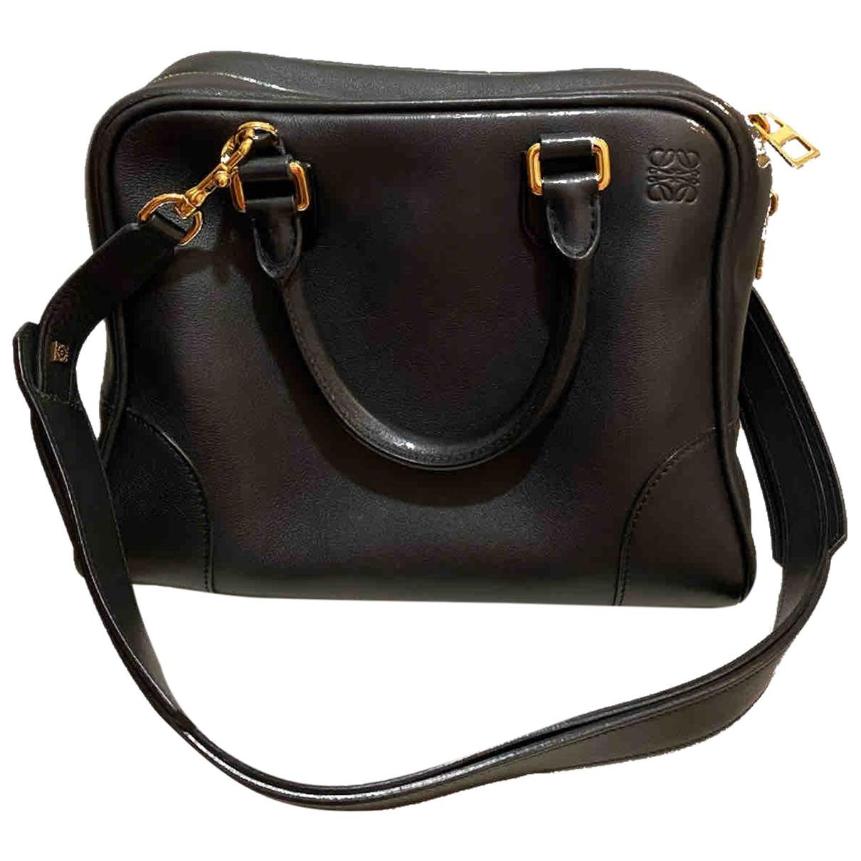 Loewe Amazona 75  Handtasche in  Schwarz Leder