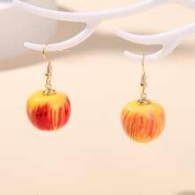 Ohrringe mit Apfel Dekor