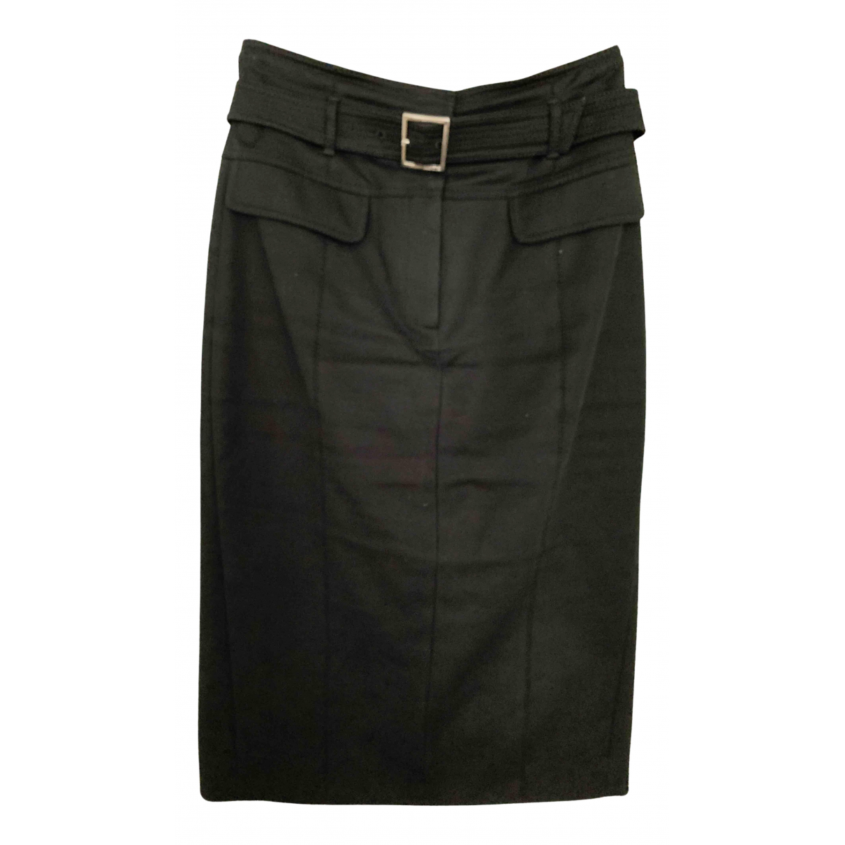 Karen Millen - Jupe   pour femme en coton - elasthane - noir