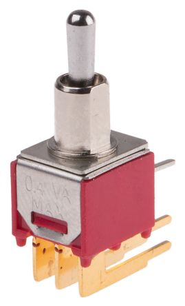 RS PRO DPDT Toggle Switch, (On)-Off-(On), PCB