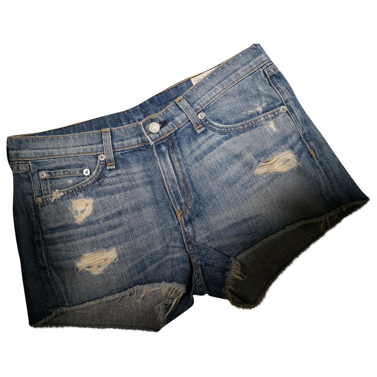 Rag & Bone - Short   pour femme en denim - bleu