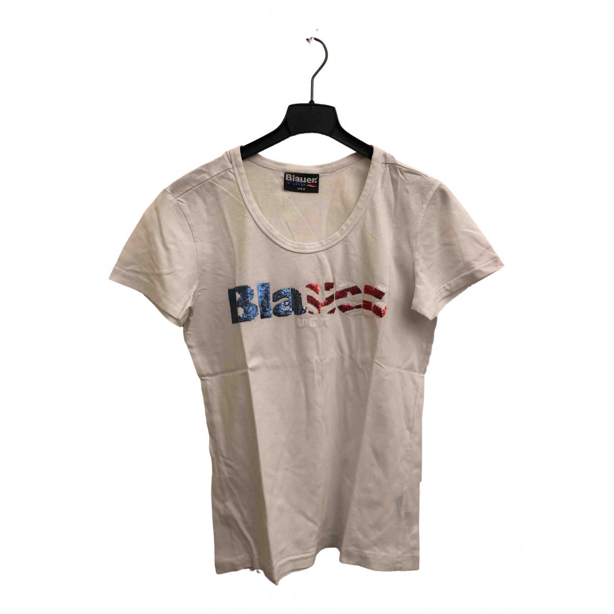 Blauer - Top   pour enfant en coton - blanc