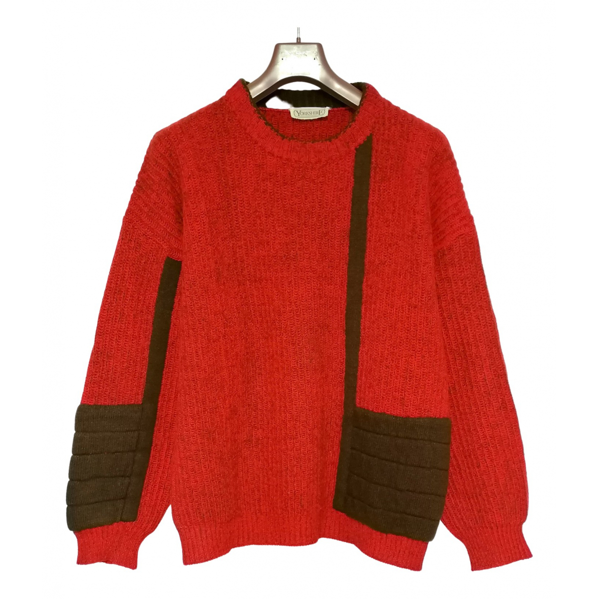 Non Signe / Unsigned \N Pullover.Westen.Sweatshirts  in  Rot Wolle
