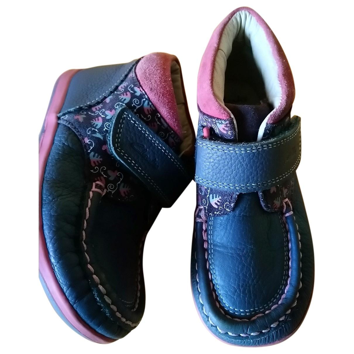 Clarks - Mocassins   pour enfant en cuir - gris