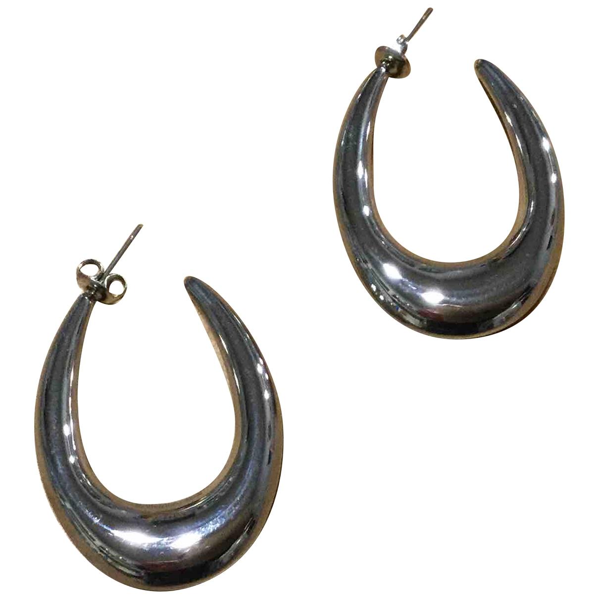 - Boucles doreilles Creoles pour femme en acier - argente