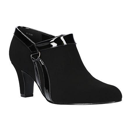 Easy Street Womens Nikita Pumps Spike Heel, 7 Wide, Black