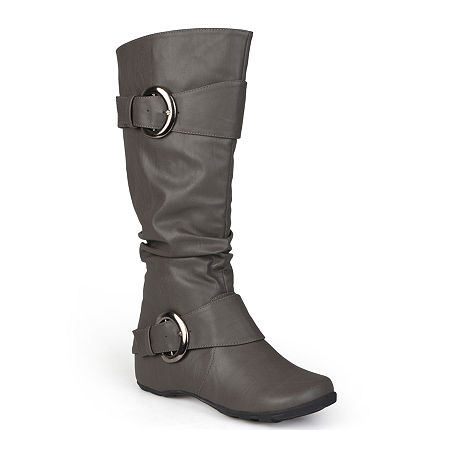Journee Collection Womens Paris Slouch Riding Boots, 11 Medium, Gray