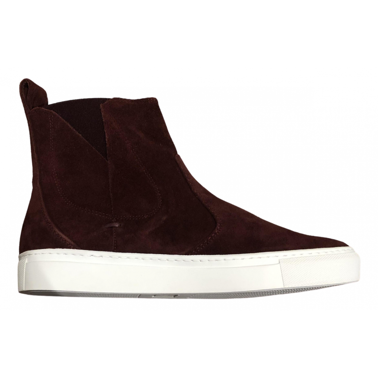 Lanvin \N Sneakers in  Bordeauxrot Veloursleder