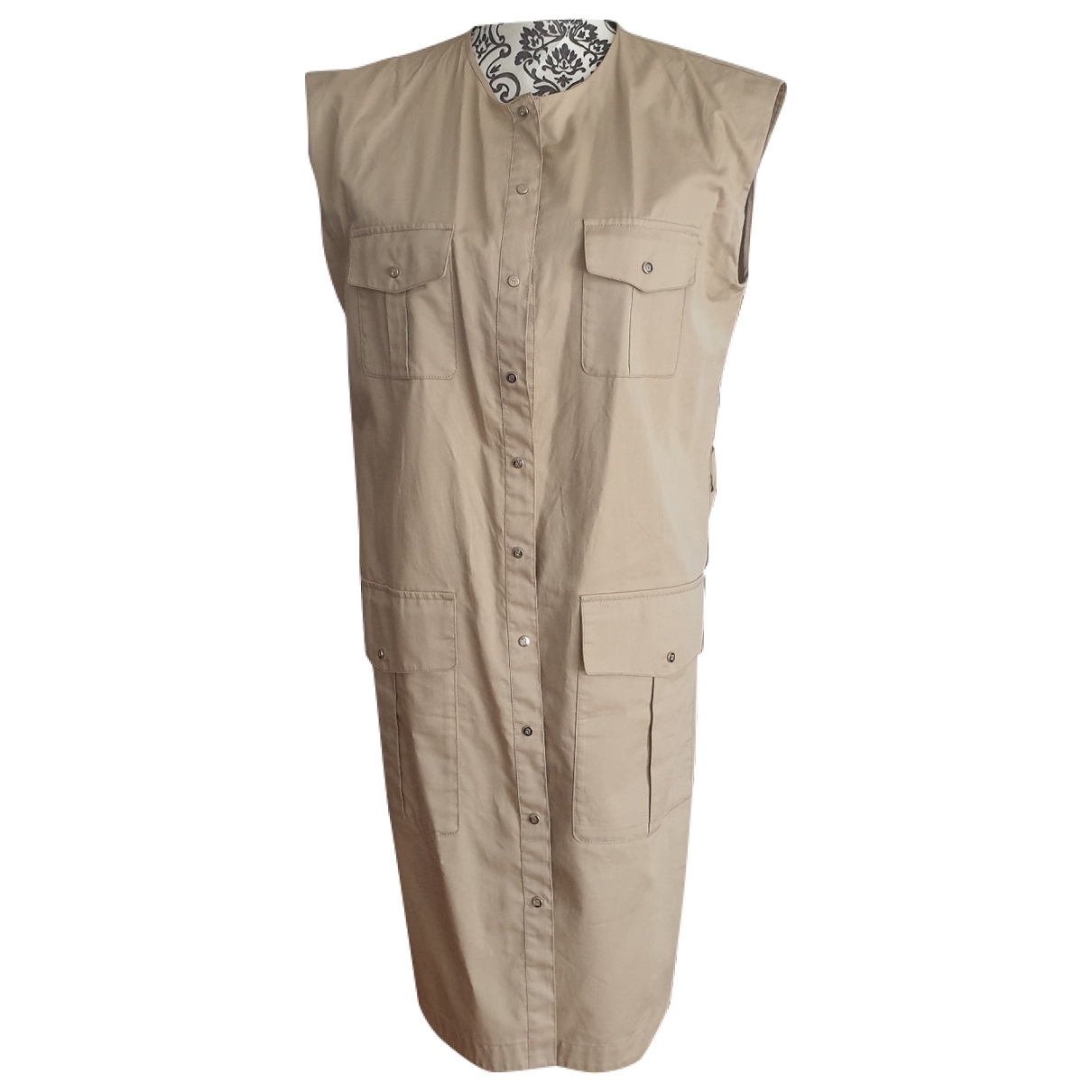 Carolina Herrera - Robe   pour femme en coton - beige