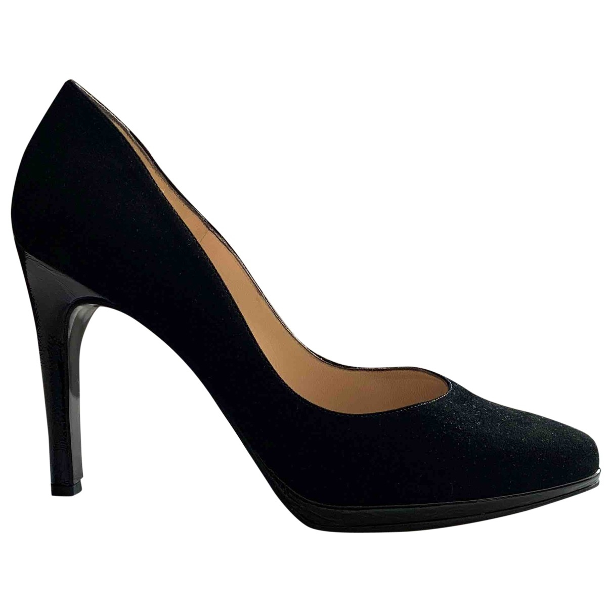 Non Signé / Unsigned \N Black Suede Heels for Women 7 UK