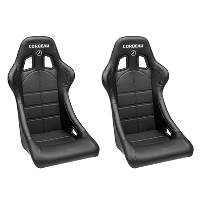 Corbeau Forza Entry Level Racing Seat - Pair (Black) - 29102PR