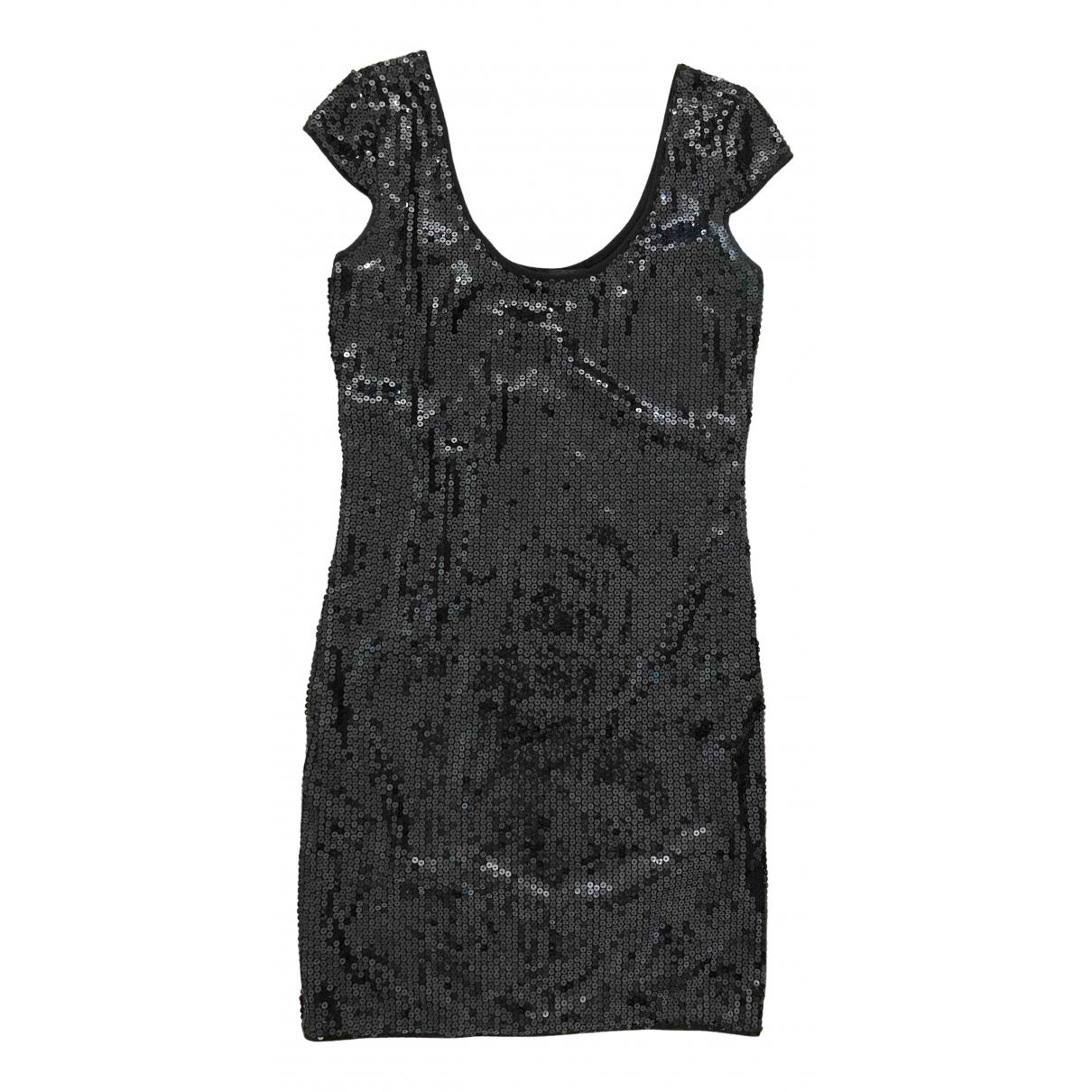 Emporio Armani \N Kleid in  Schwarz Baumwolle