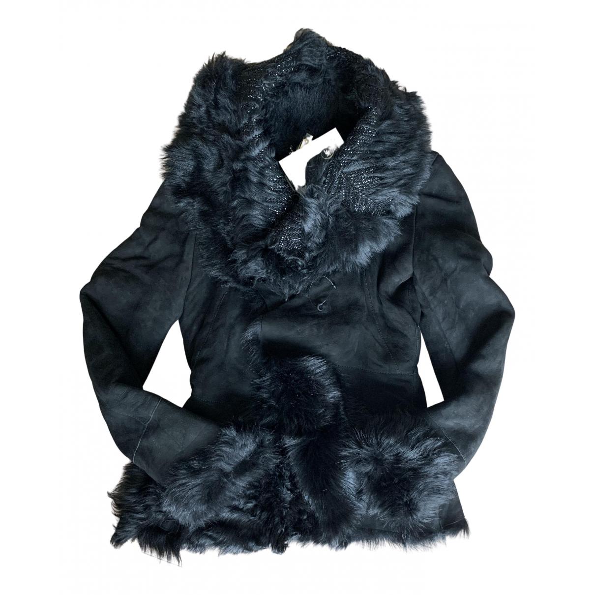 Alexander Mcqueen - Blouson   pour femme en cuir - noir