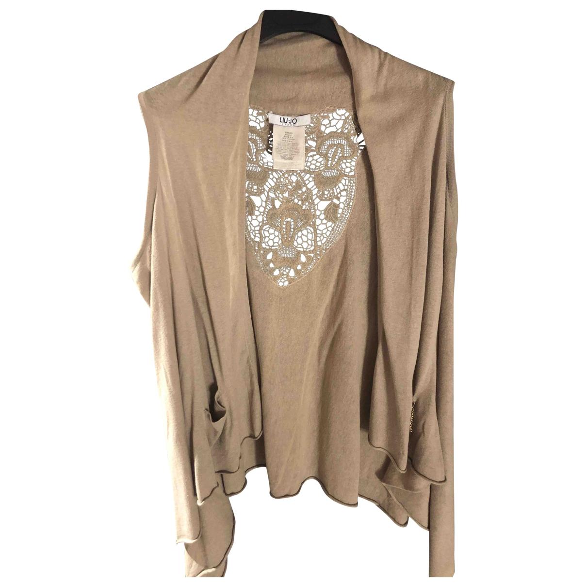 Liu.jo \N Beige Cotton Knitwear for Women XS International