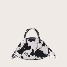 Handtasche mit Kuh Muster