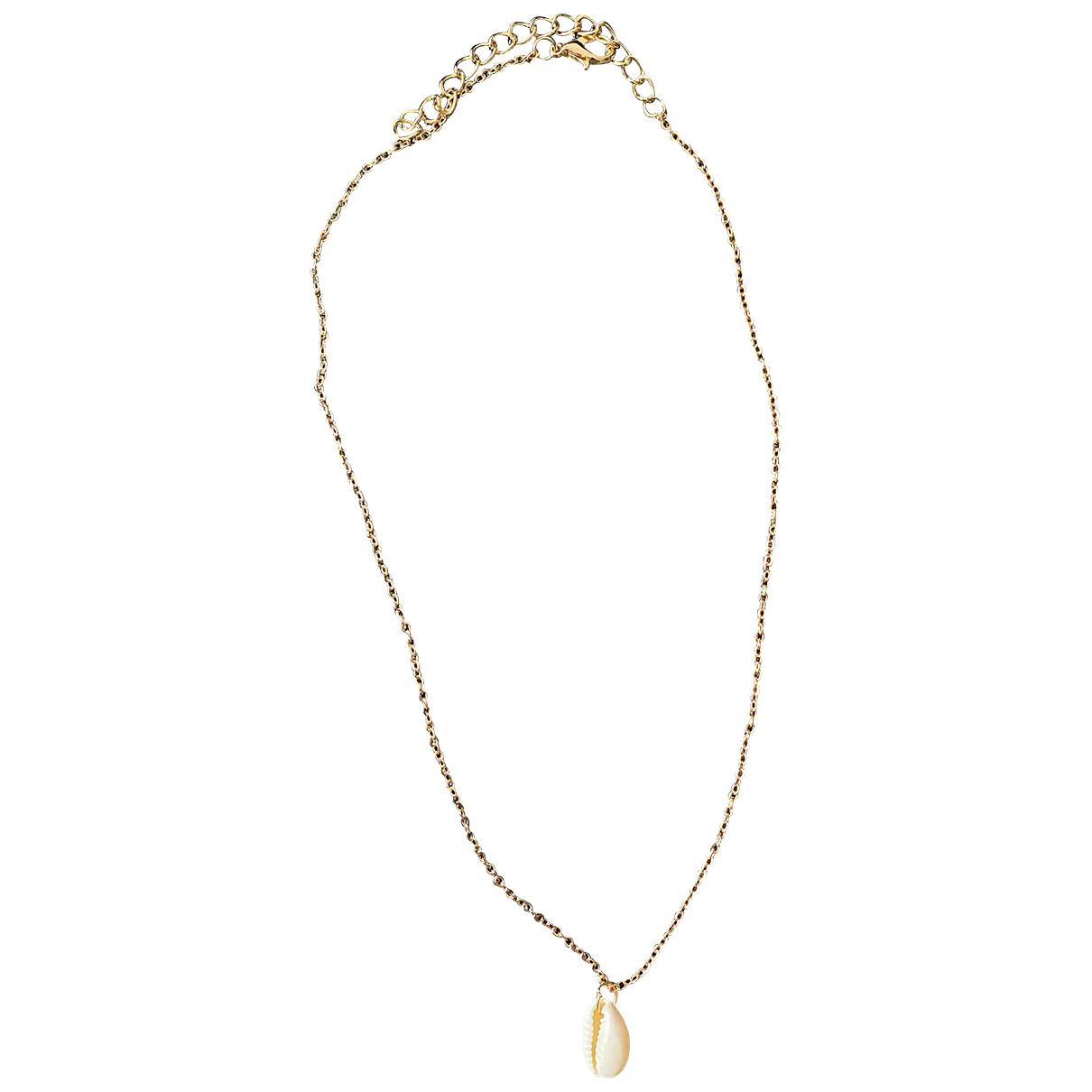 - Collier Motifs Coquillages pour femme en acier - dore
