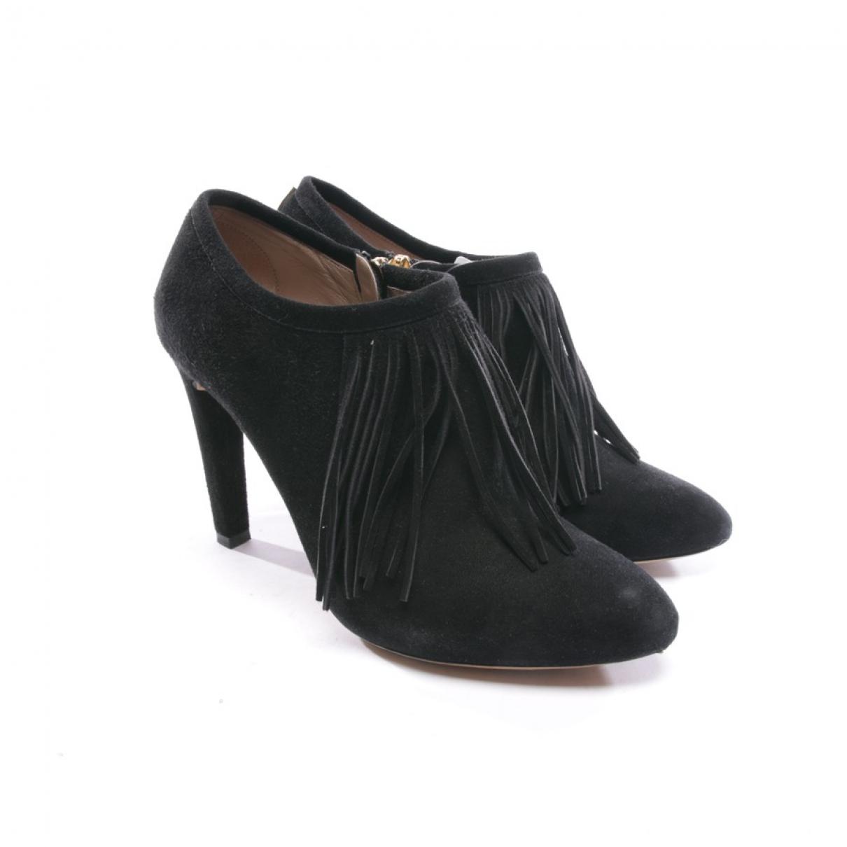 Chloe - Boots   pour femme en suede - noir