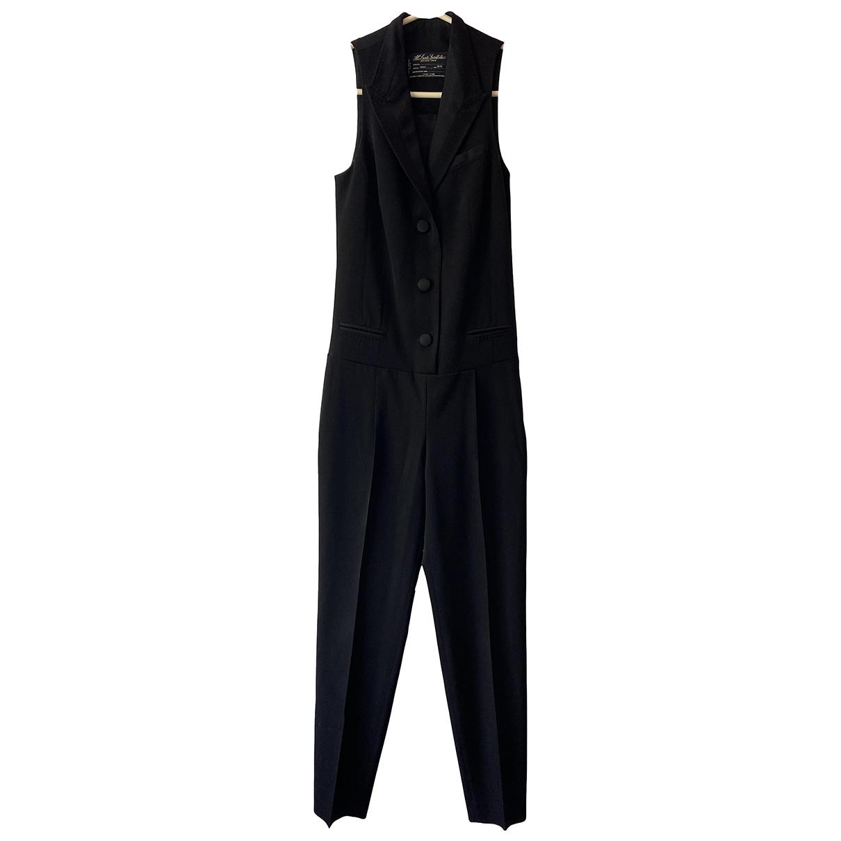 All Saints \N Black Wool jumpsuit for Women 6 UK