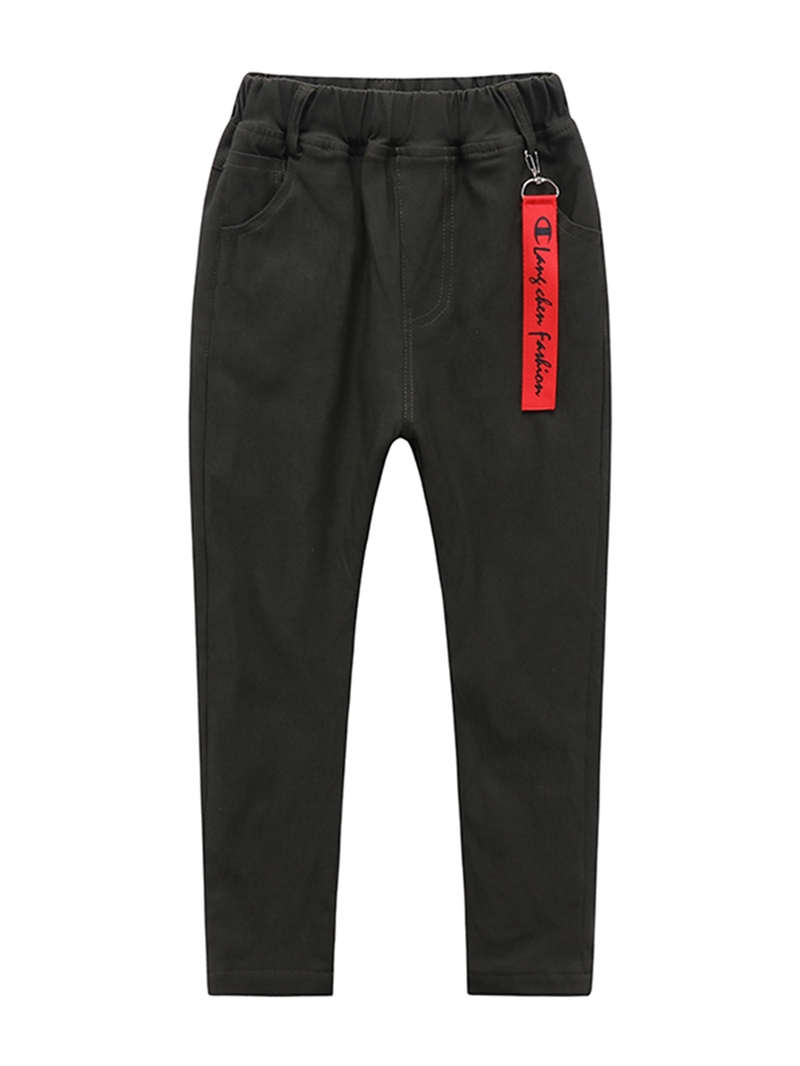 Ericdress Plain Thick Straight Boy's Autumn & Winter Trouser