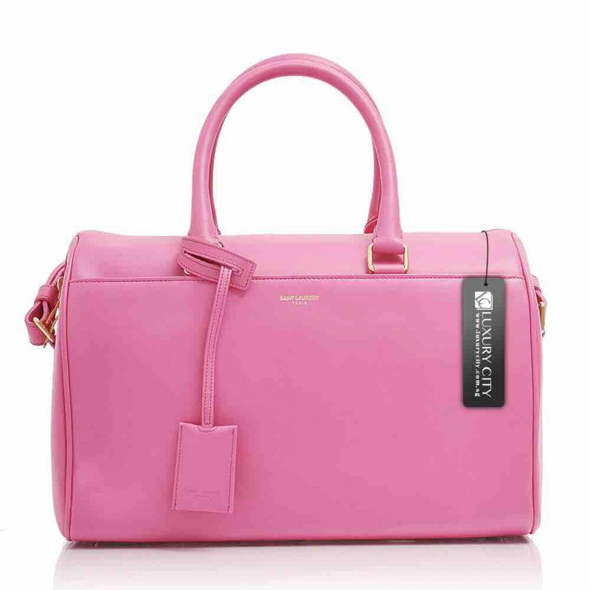 Saint Laurent Duffle Handtasche in  Rosa Leder