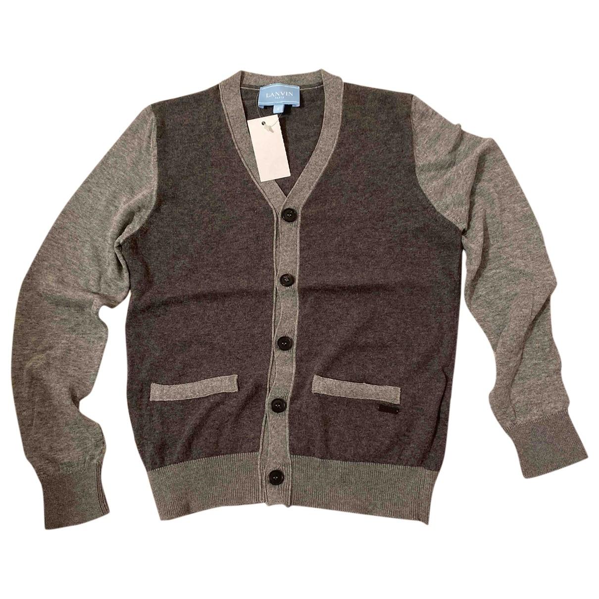 Lanvin - Pull   pour enfant en coton - gris