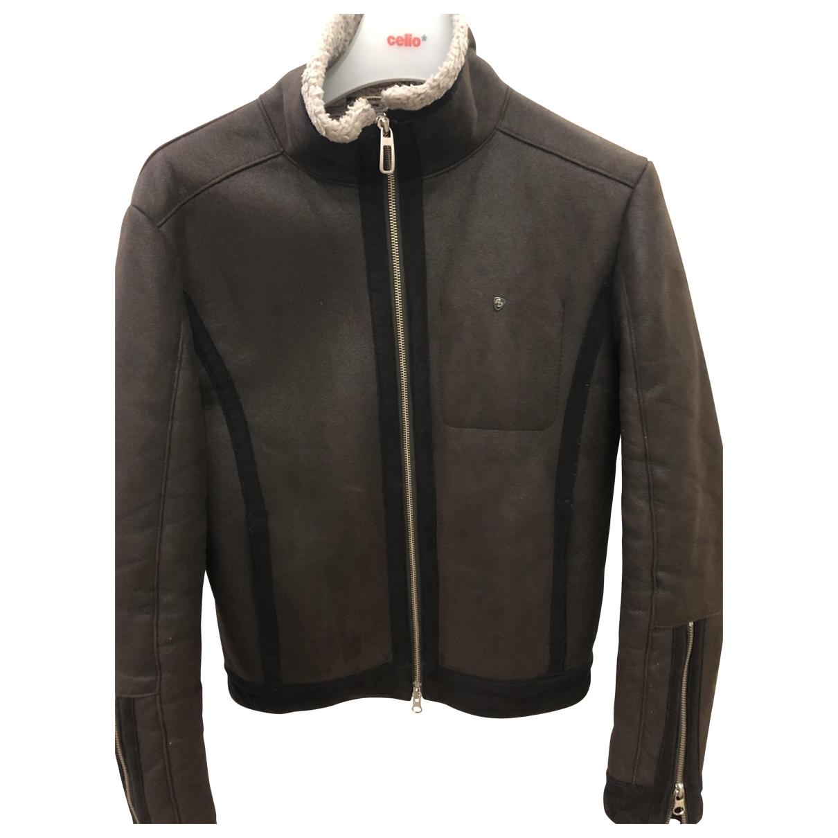 Armani Jeans \N Burgundy Faux fur coat  for Men M International