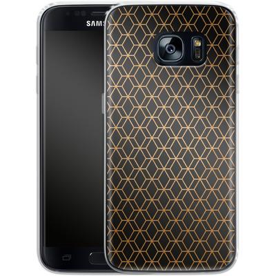 Samsung Galaxy S7 Silikon Handyhuelle - Night Pattern von #basic
