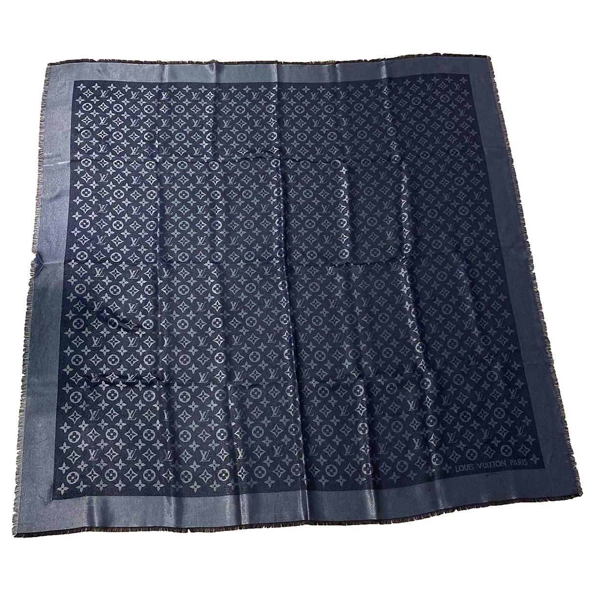 Louis Vuitton Chale Monogram Schal in  Schwarz Seide