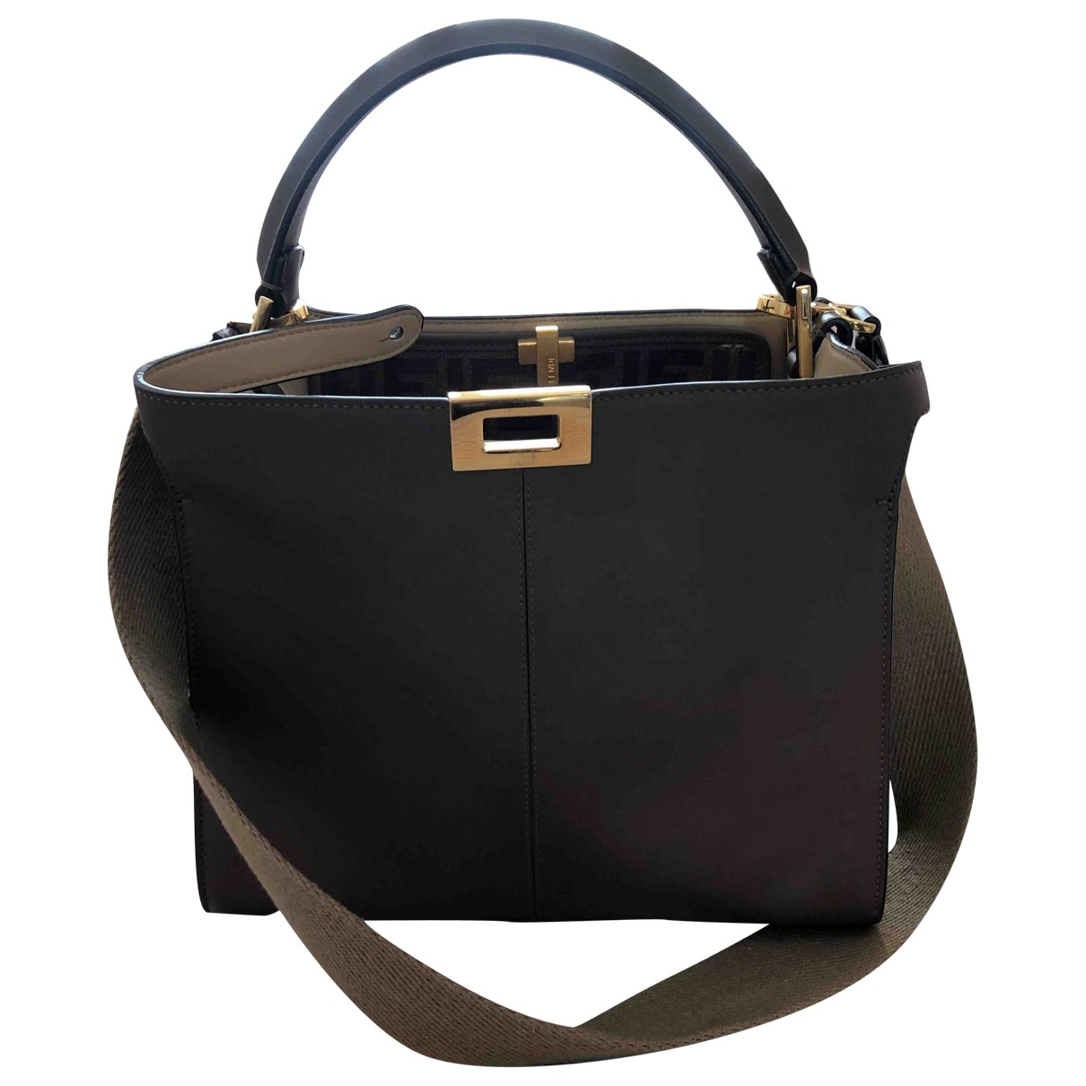 Fendi Peekaboo Brown Leather handbag for Women \N
