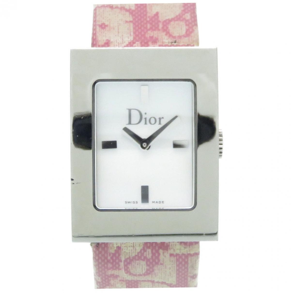 Christian Dior \N Pink Steel watch for Women \N