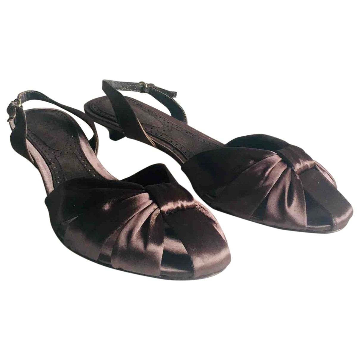Non Signé / Unsigned \N Metallic Leather Sandals for Women 40 EU
