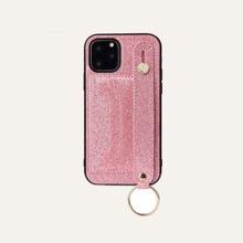 1 Stueck iPhone Huelle mit Glitzer, Handriemen und Kartenschlitz