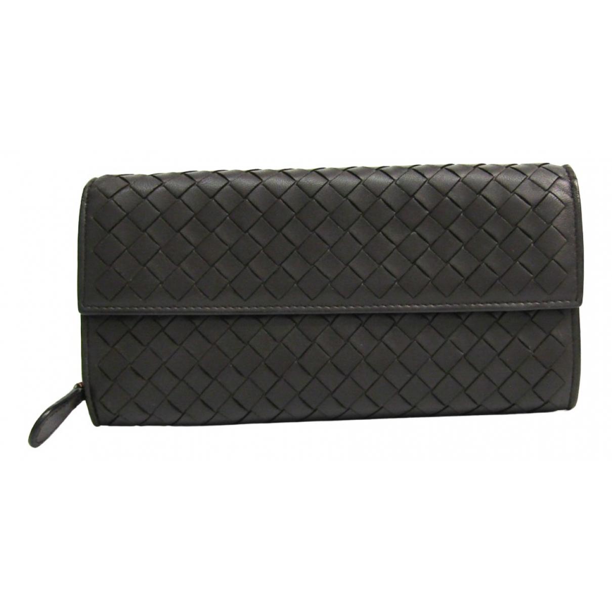 Bottega Veneta Intrecciato Brown Leather wallet for Women N